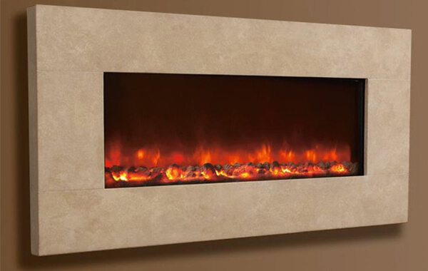 Celis Electriflame Travertine